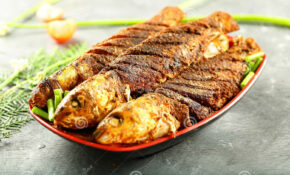 Kerala Food Recipe Fried Fish With Exotic Spices Stock Image ..