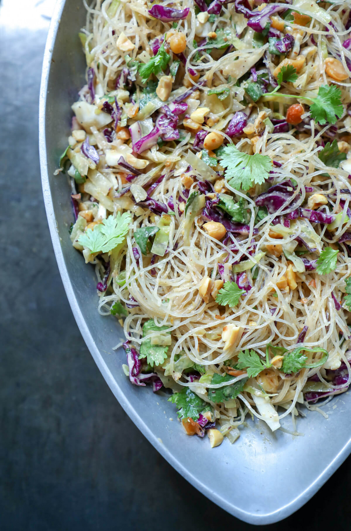 Keto Asian Noodle Salad with Peanut Sauce | I Breathe I'm ...