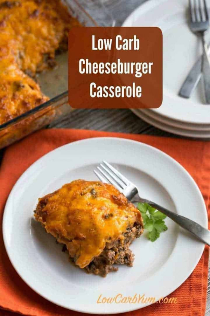 Keto Cheeseburger Casserole with Bacon | Low Carb Yum - healthy recipes keto cheeseburger casserole