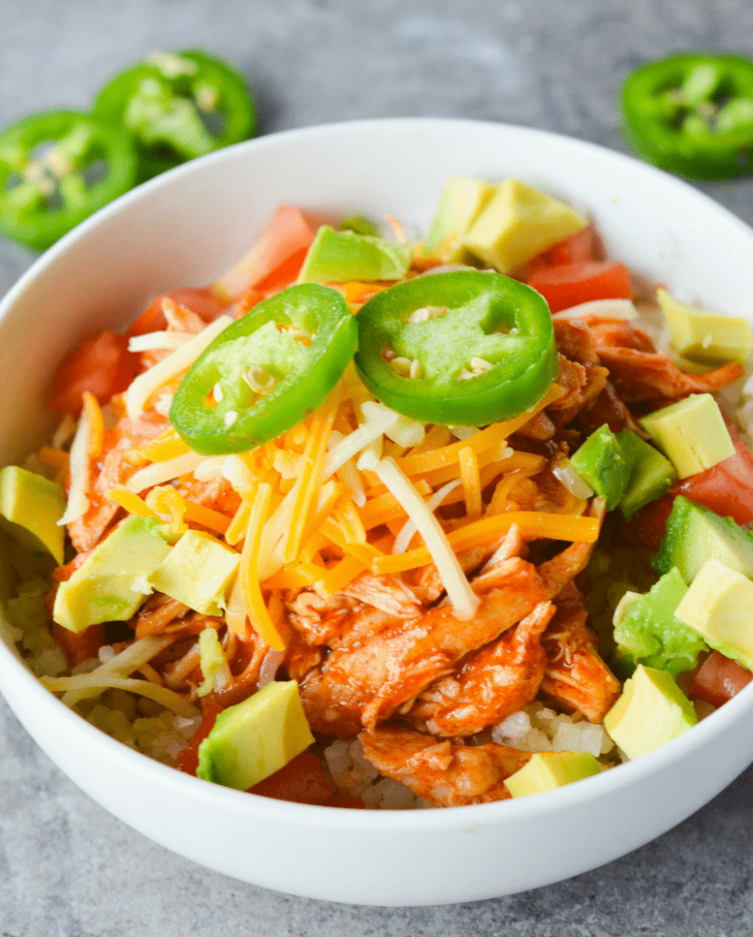 Keto Chicken Enchilada Bowl - Hey Keto Mama - keto recipes dinner