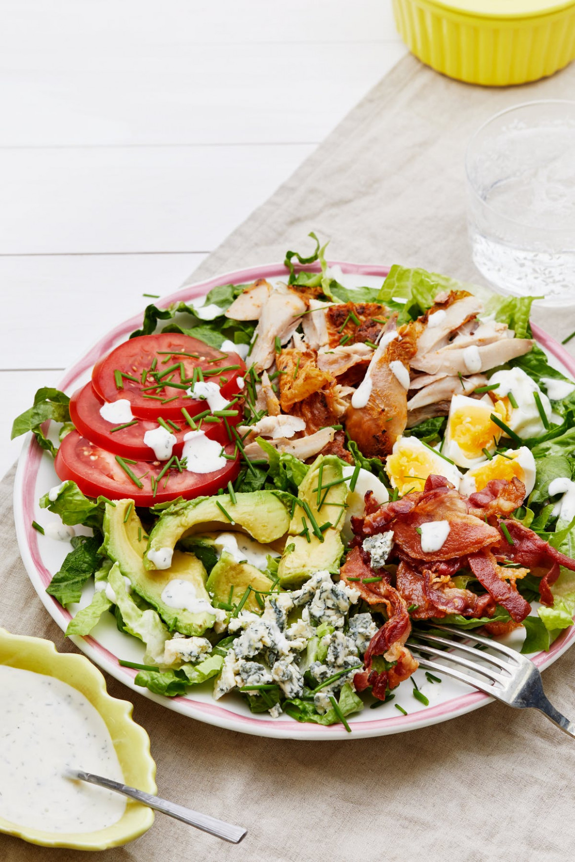 Keto Cobb Salad with Ranch Dressing — Recipe — Diet Doctor - keto salad recipes vegetarian