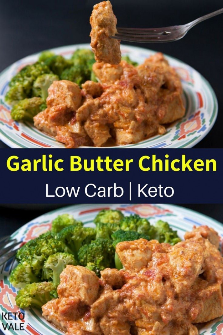 Keto Garlic Butter Chicken Breast with Steamed Broccoli ..