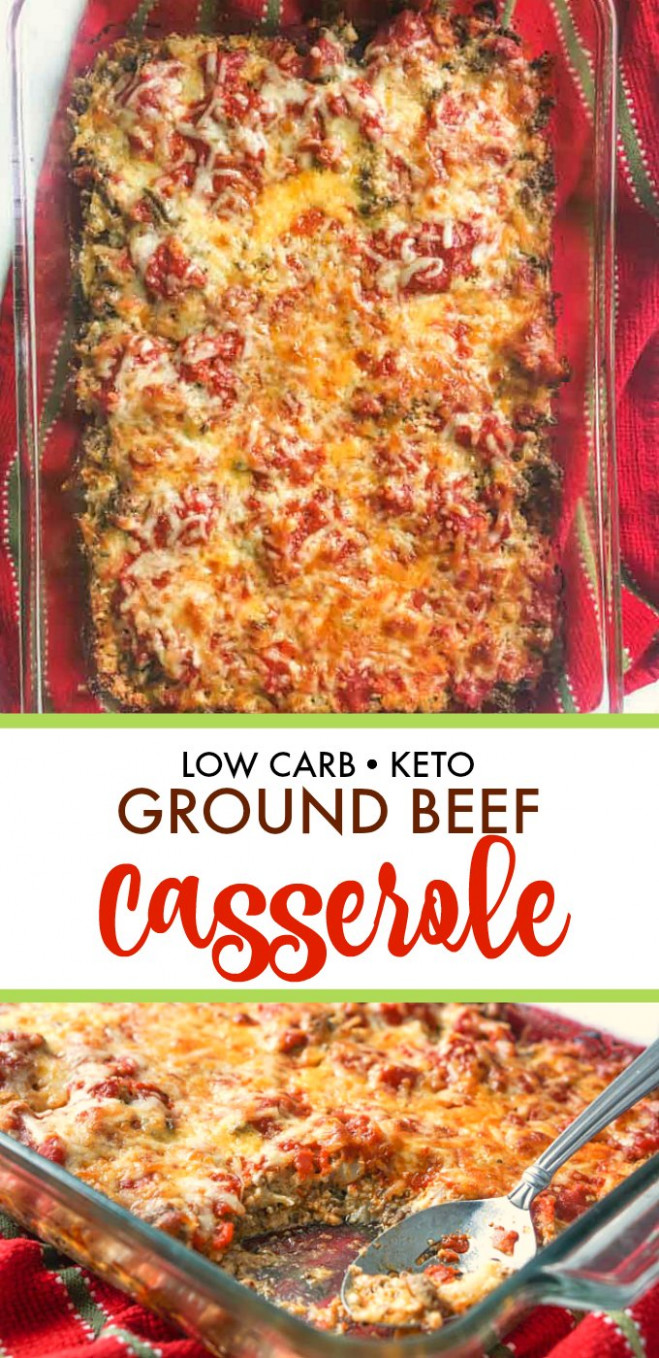 Keto Ground Beef Casserole - easy low carb comfort food! - recipes ground beef casseroles healthy