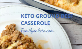 Keto Ground Beef Casserole With Cauliflower – Healthy Recipes Keto Cheeseburger Casserole
