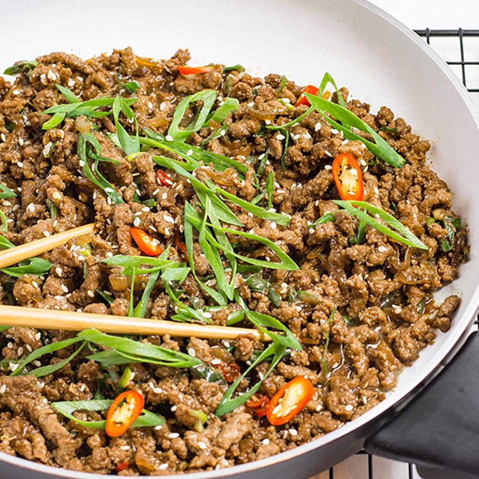Keto Ground Beef Recipe - Sticky Korean Stir Fry - recipes minced meat healthy