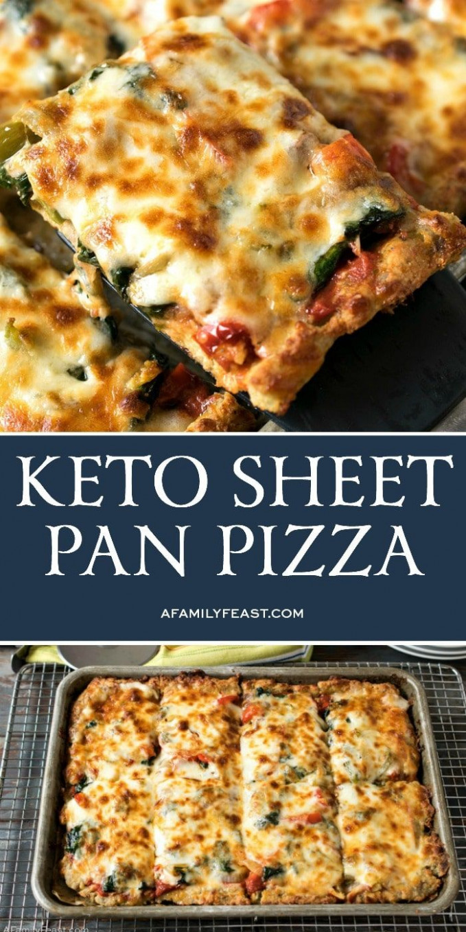 Keto Sheet Pan Pizza - Food Recipes Keto