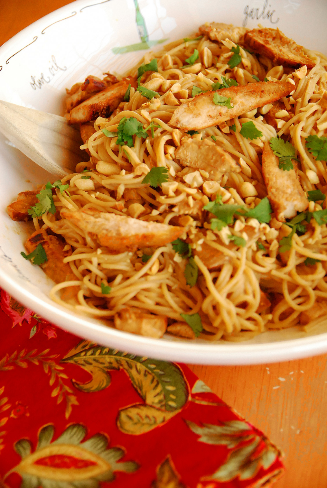 Kid Favorite: Thai Peanut Chicken and Noodles - vermicelli noodle recipes chicken