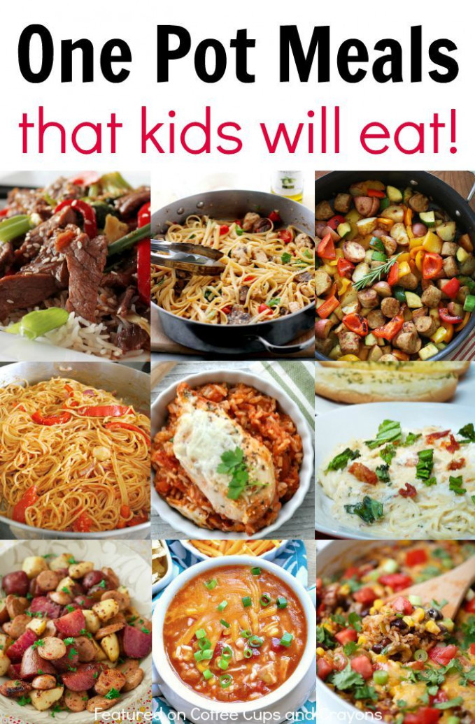 Kid Friendly One Pot Meals | Good Eats | Dinner recipes ..