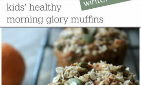 Kids' healthy morning glory muffins- winter edition