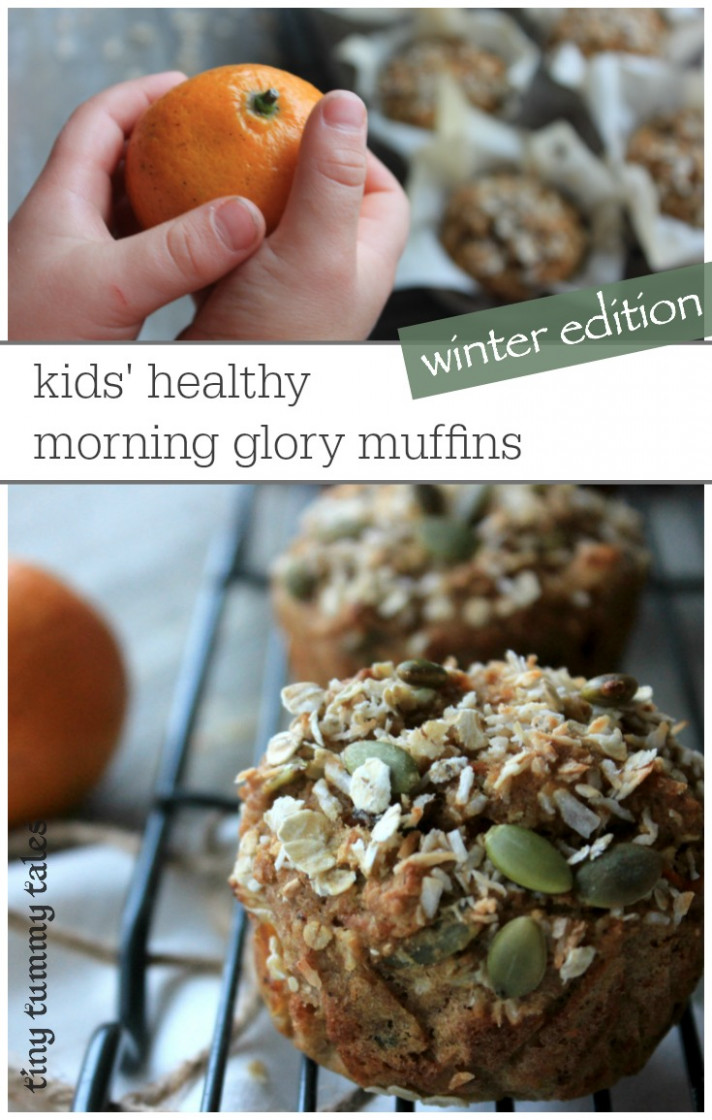 Kids' Healthy Morning Glory Muffins  Winter Edition - Healthy Kid Recipes