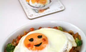 Kimchi Fried Rice With Cute Face – Food Recipes Korean