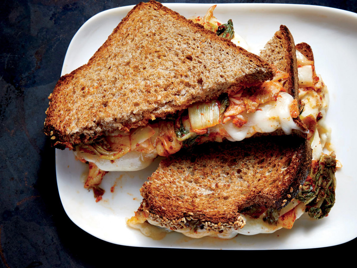 Kimchi Grilled Cheese Recipe - Cooking Light - recipes air fryer vegetarian