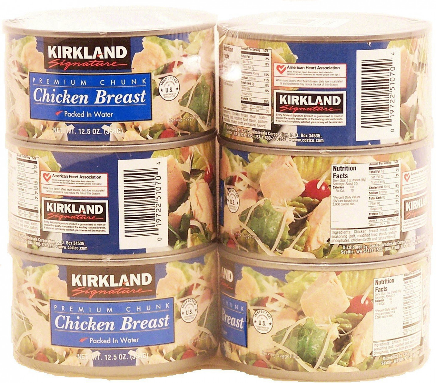 Kirkland Signature Premium Chunk Chicken Breast Packed in Water, 10