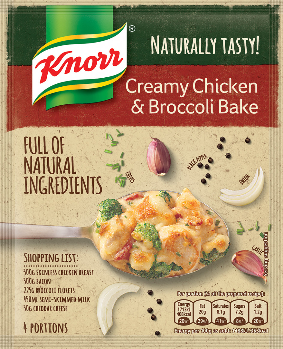 KNORR Naturally Tasty Creamy Chicken and Broccoli Bake ..