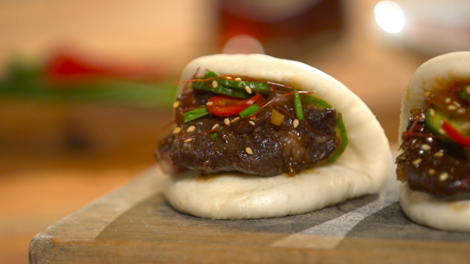 Korean Braised Short Ribs on Steamed Buns ~ Recipe | Tastemade - recipes korean food