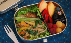 Korean Chicken & Chap Chae Bento – Healthy Recipes Korean