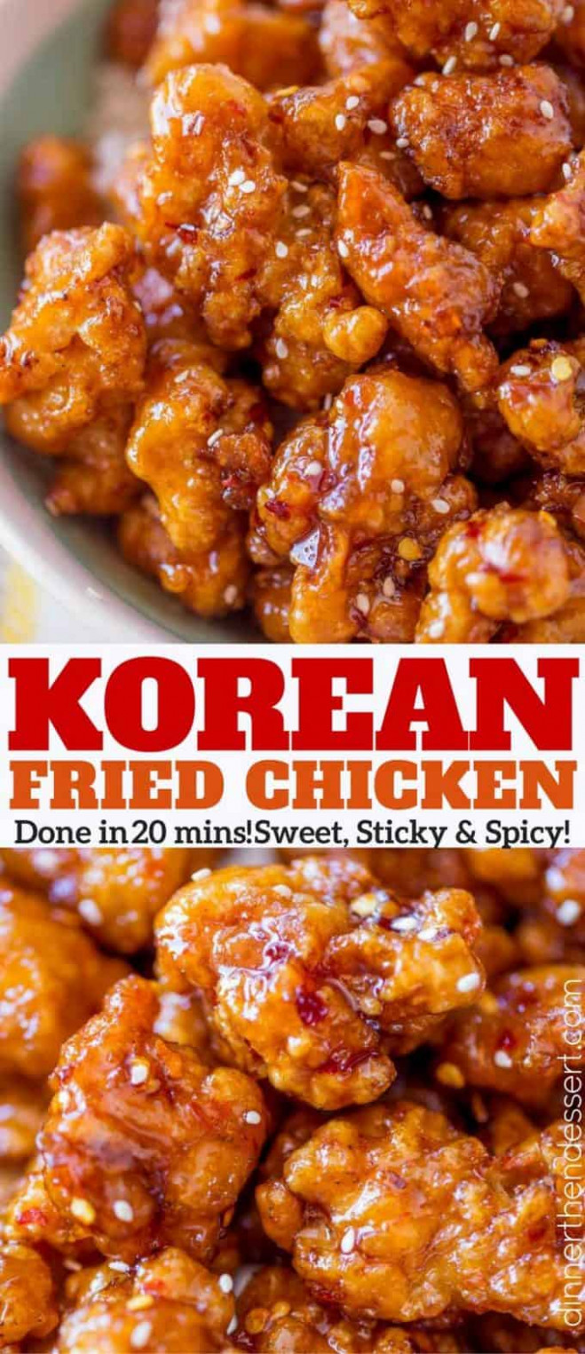 Korean Fried Chicken - Dinner, then Dessert - recipes korean fried chicken