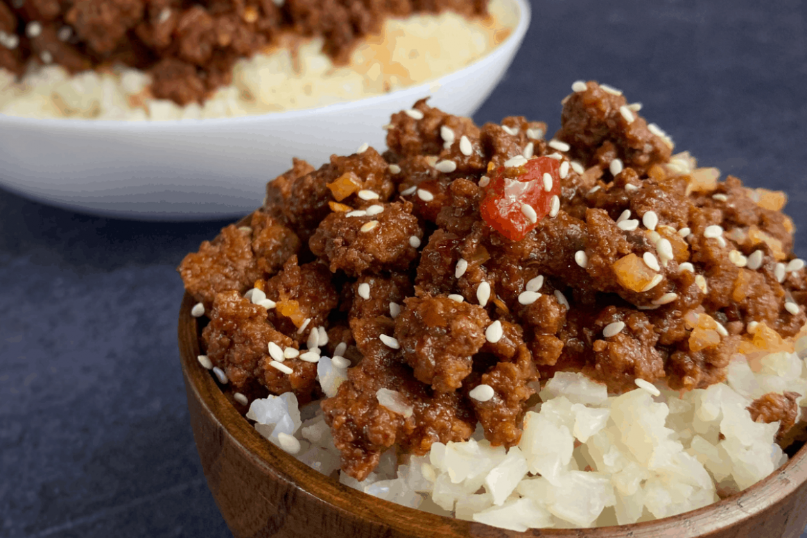Korean Ground Beef: A Lower Calorie Ground Beef with Rice Recipe - recipes with ground beef healthy