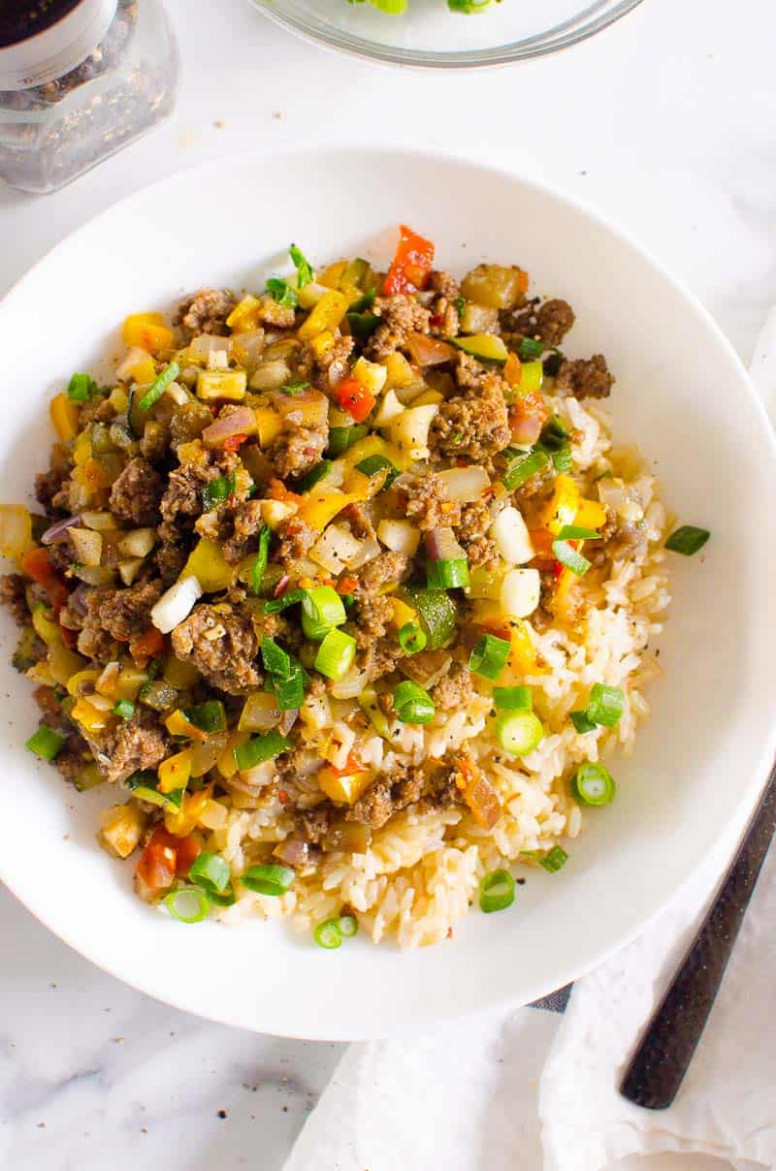Korean Ground Beef and Rice Bowls - iFOODreal - Healthy ..