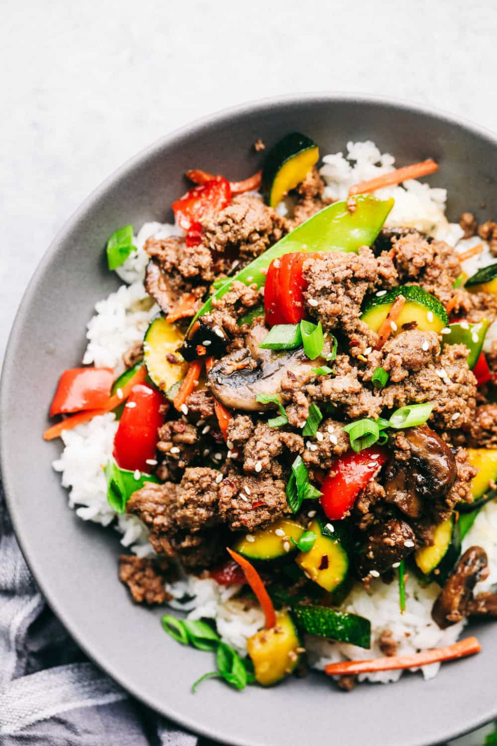 Korean Ground Beef Stir Fry - recipes using ground beef healthy