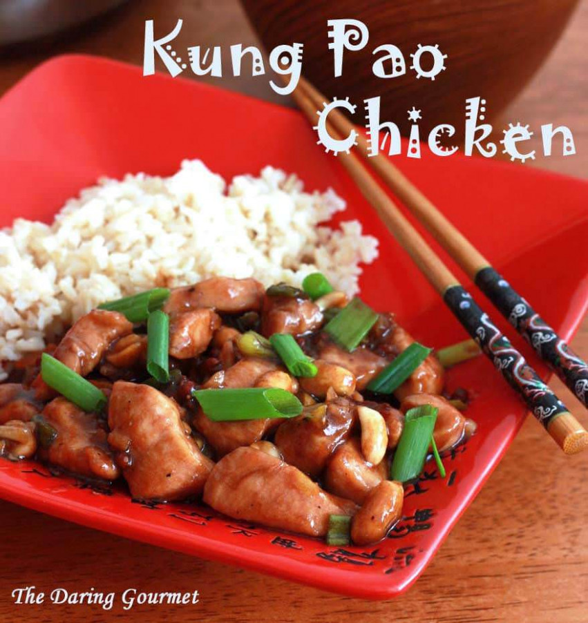 Kung Pao Chicken - authentic chinese recipes chicken