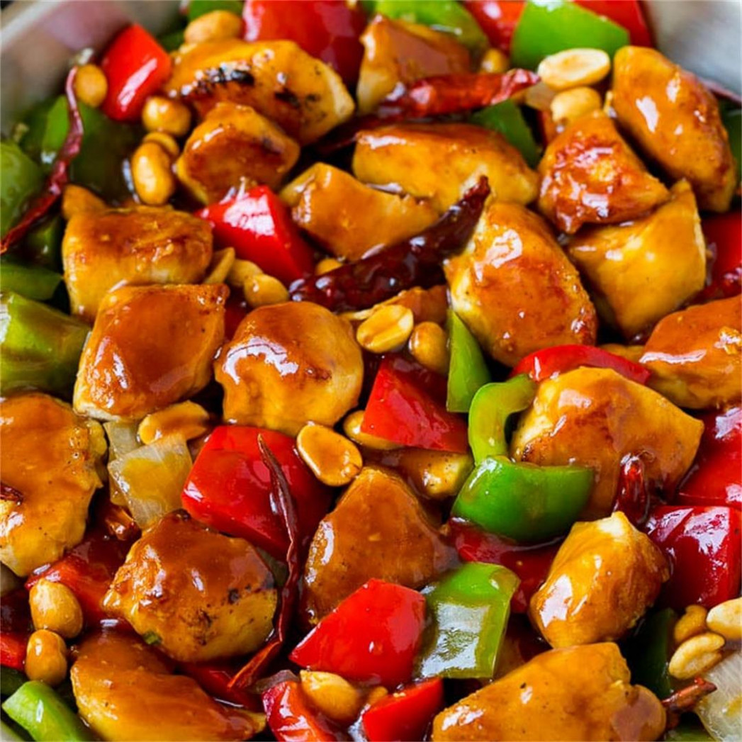 Kung Pao Chicken - Dinner at the Zoo - chicken recipes yummy tummy