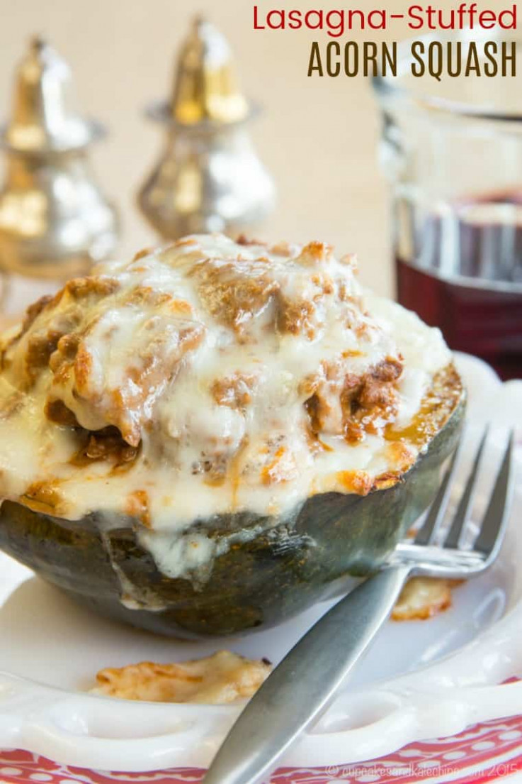 Lasagna Stuffed Acorn Squash - healthy recipes ground beef