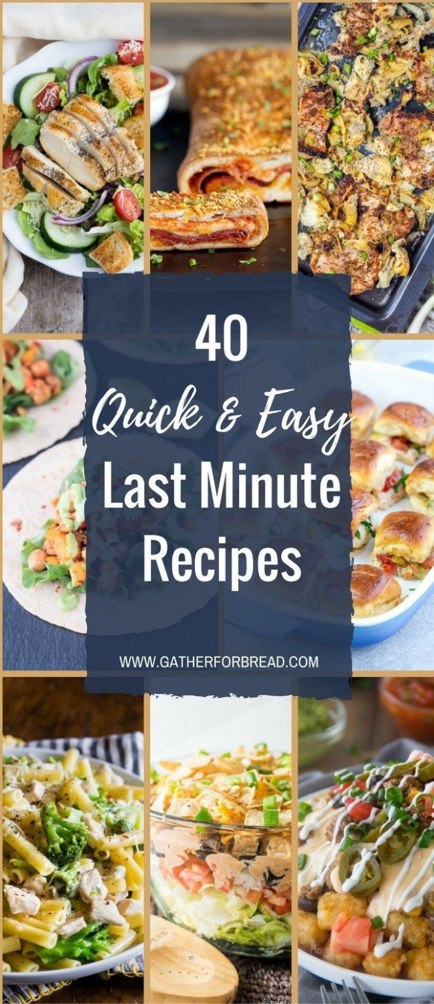 Last Minute Meals - Quick last minute dinner recipe ideas ..