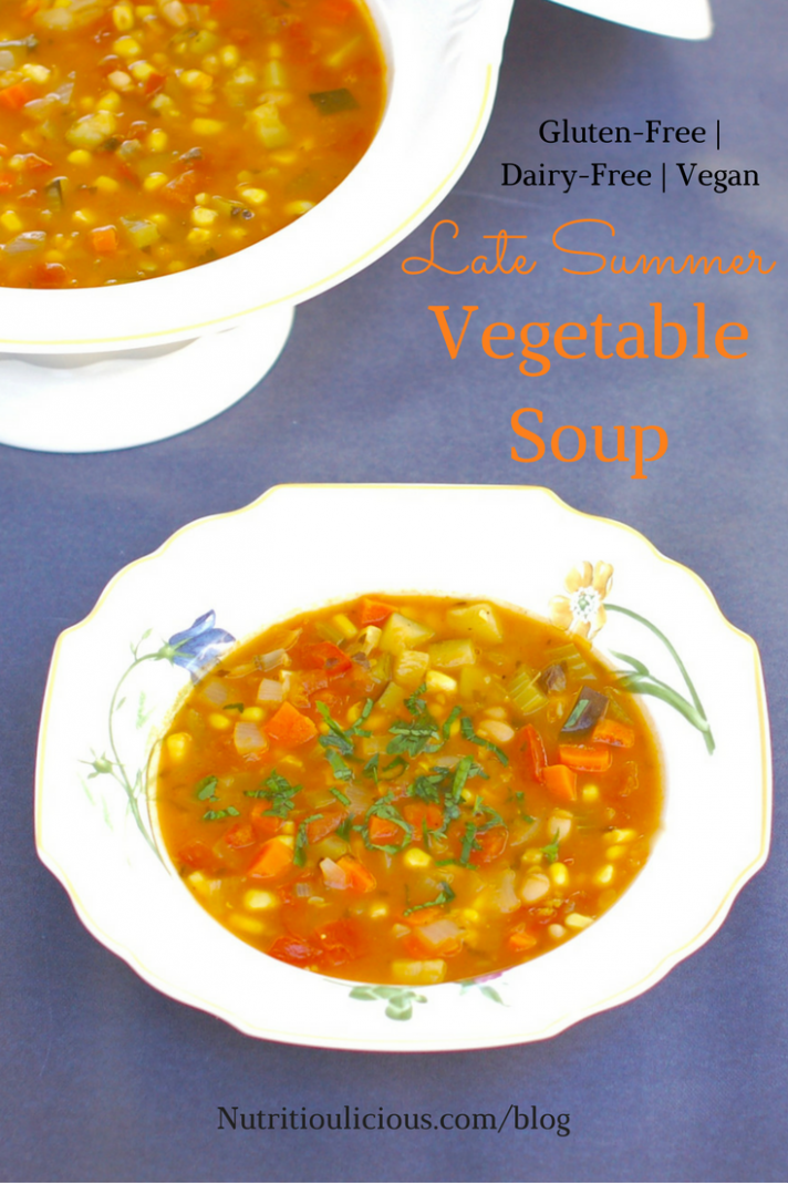 Late Summer Vegetable Soup - recipes soup vegetarian