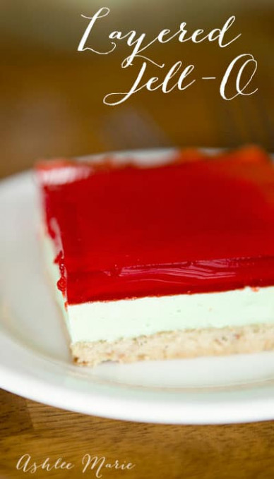 Layered Jell-O Recipe ♥ Fleece Fun - dessert food recipes