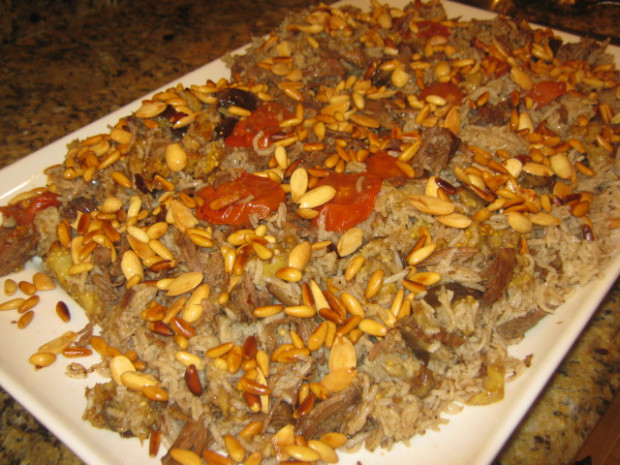 Lebanese Makloubi with Meat Recipe | LEBANESE RECIPES - arabic food recipes with pictures