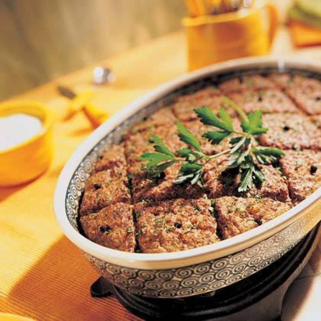 Lebanese Meat Loaf Recipe | Just A Pinch Recipes - Food Recipes Arabic