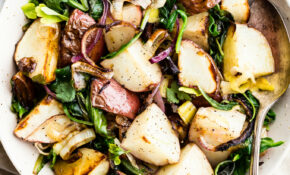 Leek And Oven Roasted Potatoes – Spinach Recipes Healthy Vegetarian