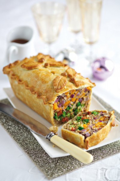 Leek, squash and broccoli pie - Main course - Vegetarian ..