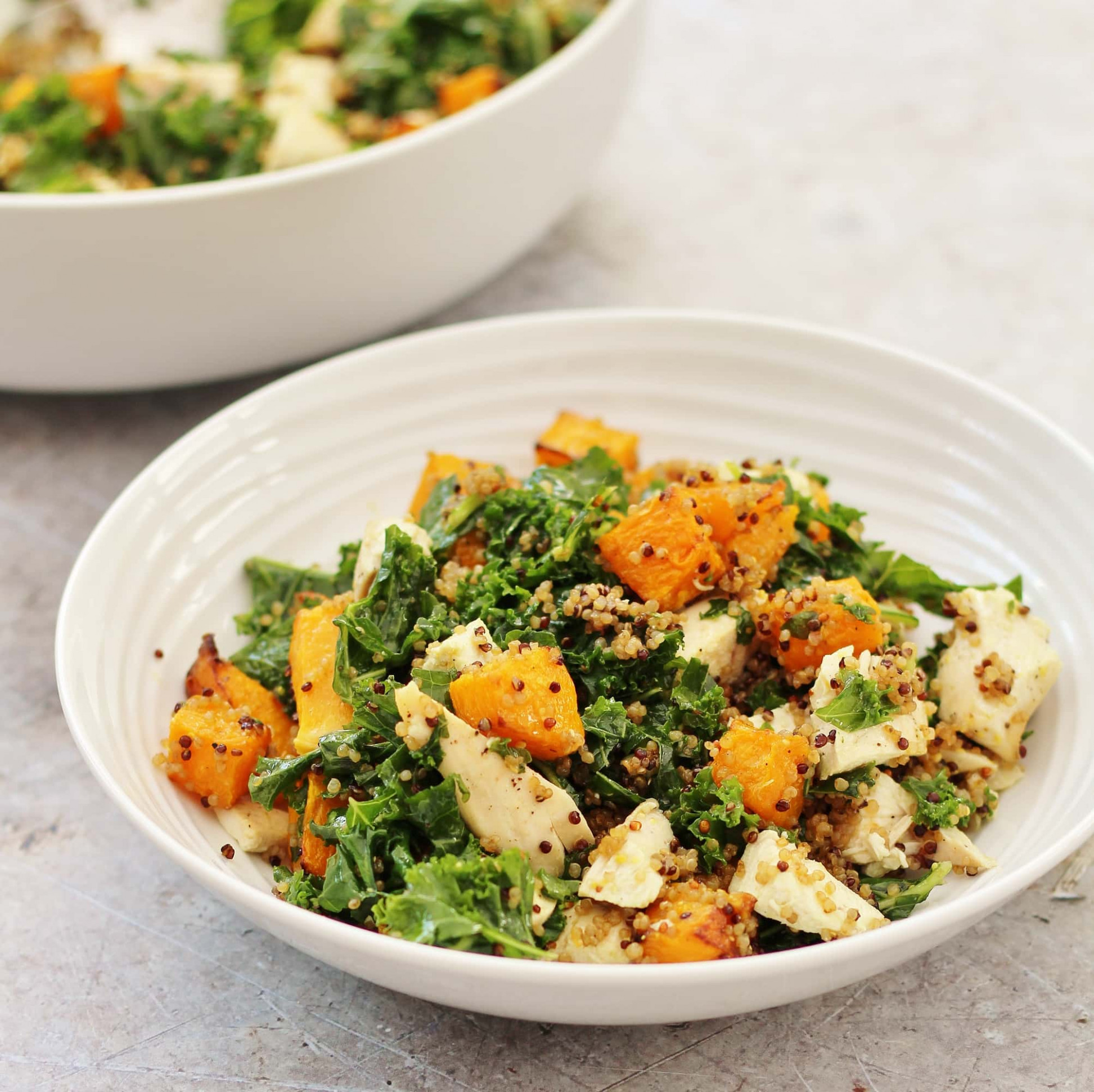 Leftover Chicken, Kale, Quinoa and Pumpkin Salad - recipes kale and chicken