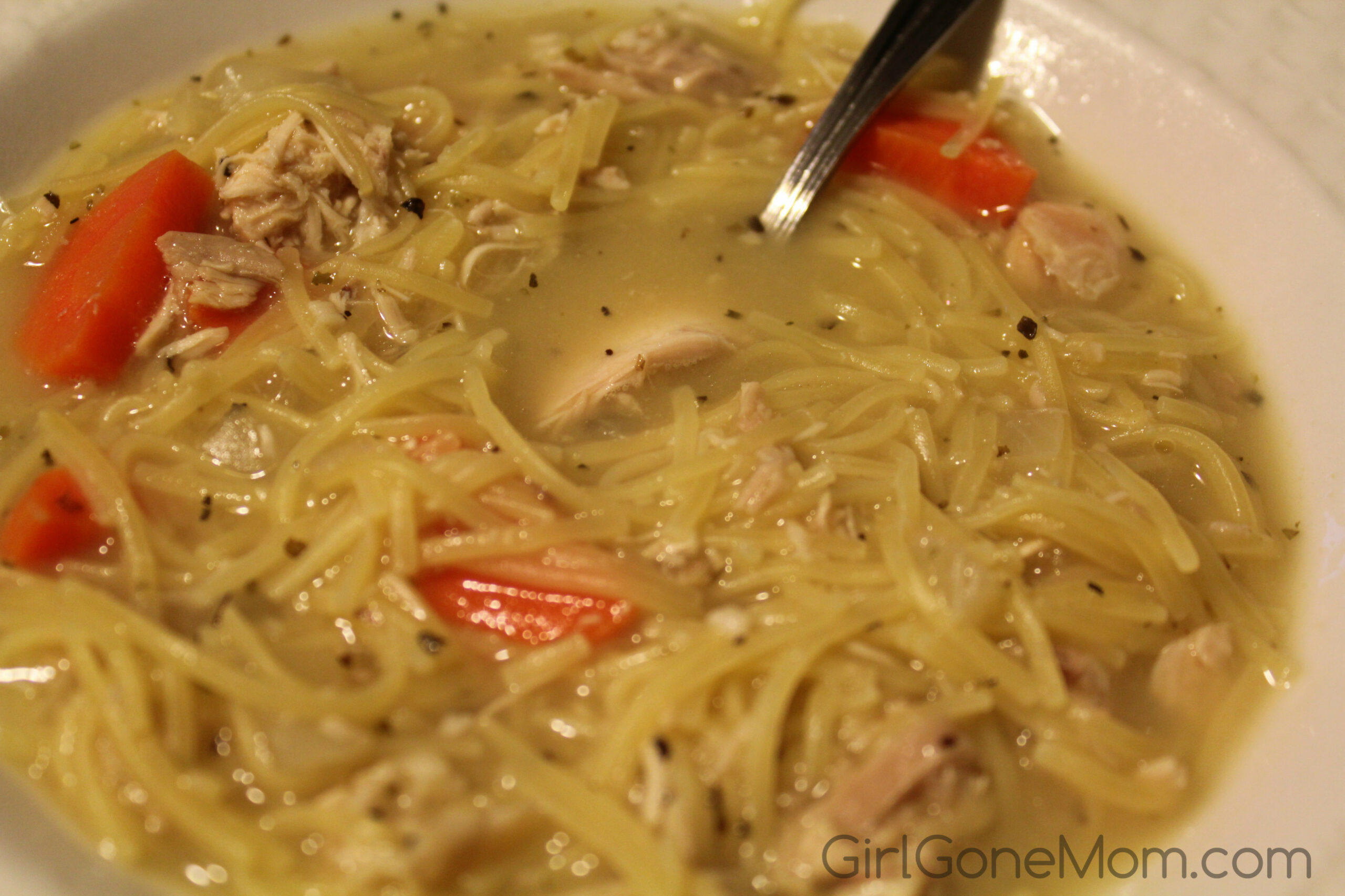 Leftover Rotisserie Chicken Noodle Soup Recipe - Girl Gone Mom - recipes to make with rotisserie chicken