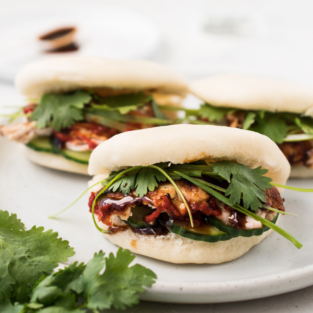 Leftover Turkey Bao (Steamed Buns) - healthy recipes quick and easy