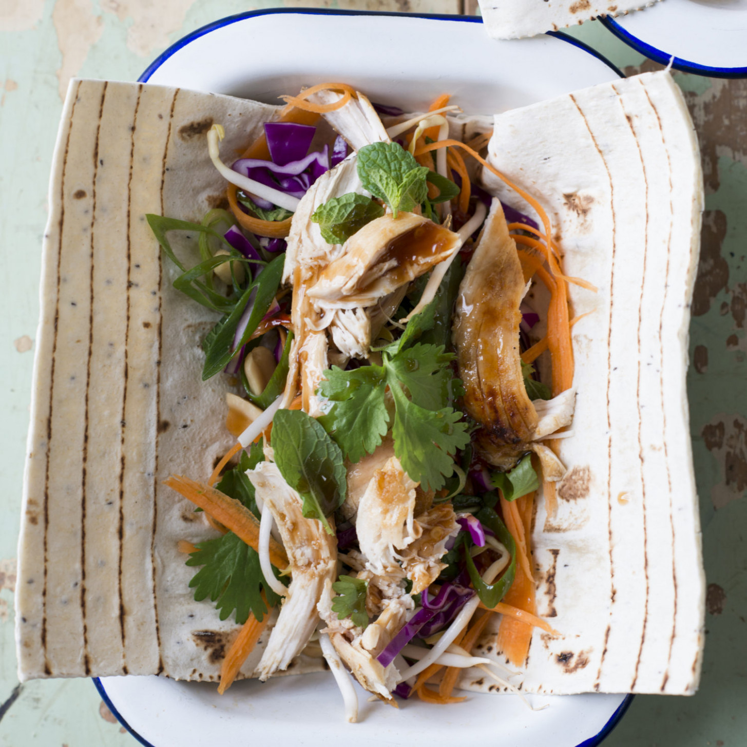 Leftover Turkey Or Chicken Asian Salad - Recipes With Leftover Chicken