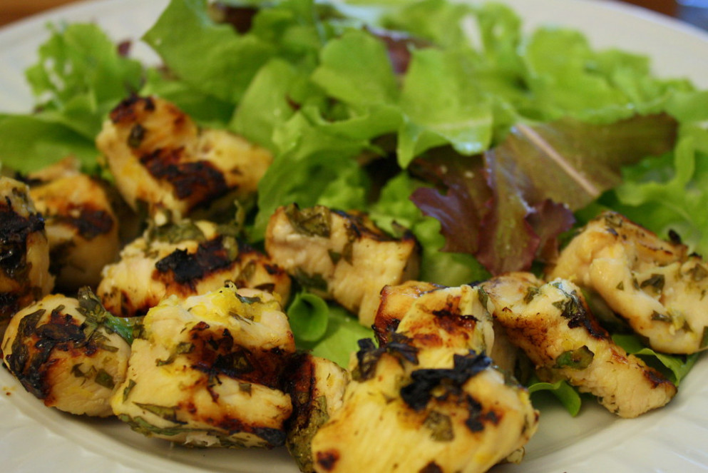 Lemon Chicken Kebabs - chicken recipes lemon