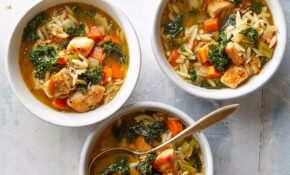 Lemon Chicken Orzo Soup With Kale – Healthy Kale Recipes