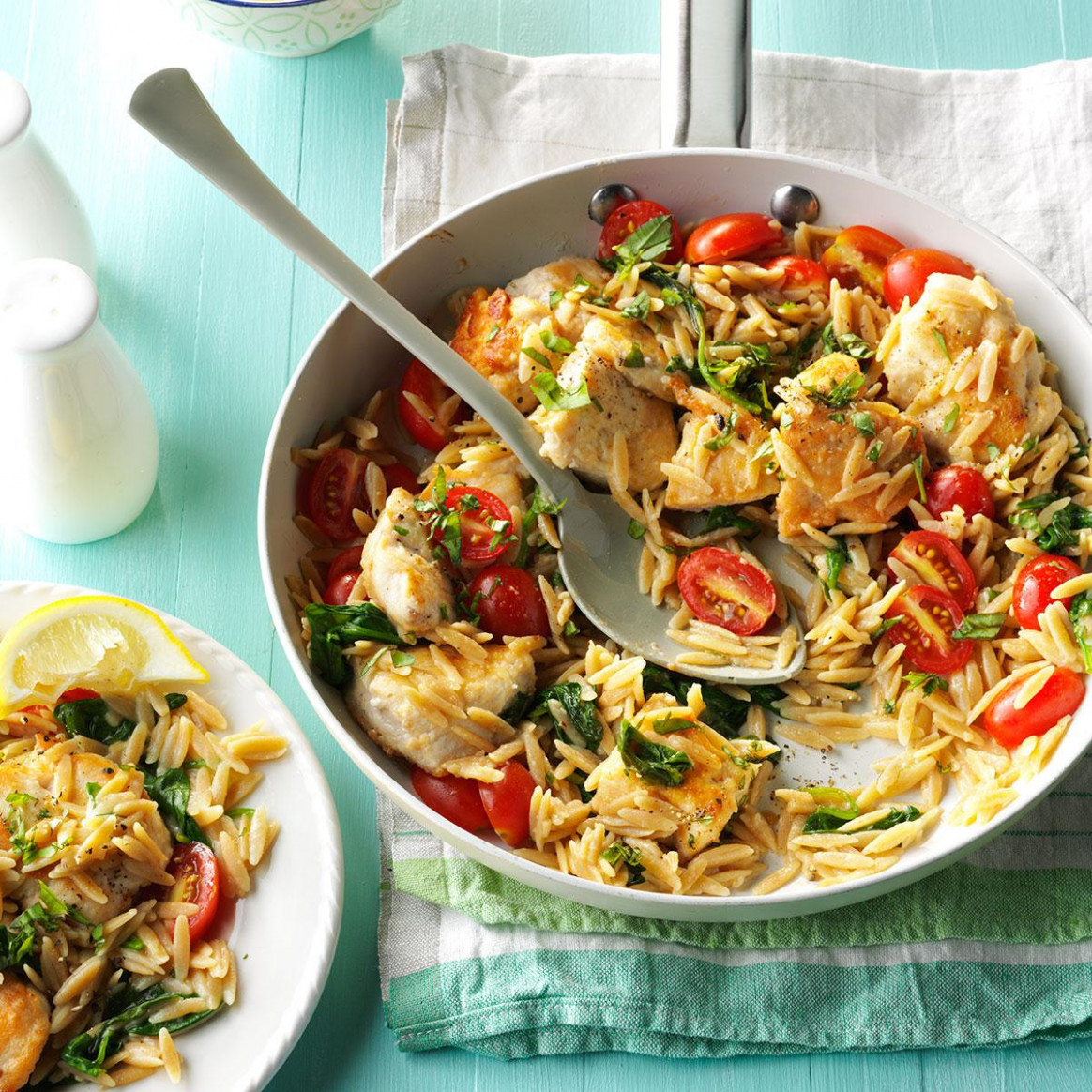 Lemon Chicken With Orzo - Chicken Recipes No Dairy