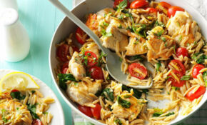 Lemon Chicken With Orzo Recipe | Taste Of Home – Orzo Recipes Chicken