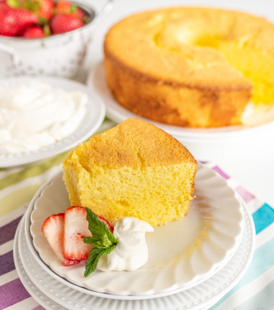 Lemon Chiffon Cake - Recipes Angel Food Cake