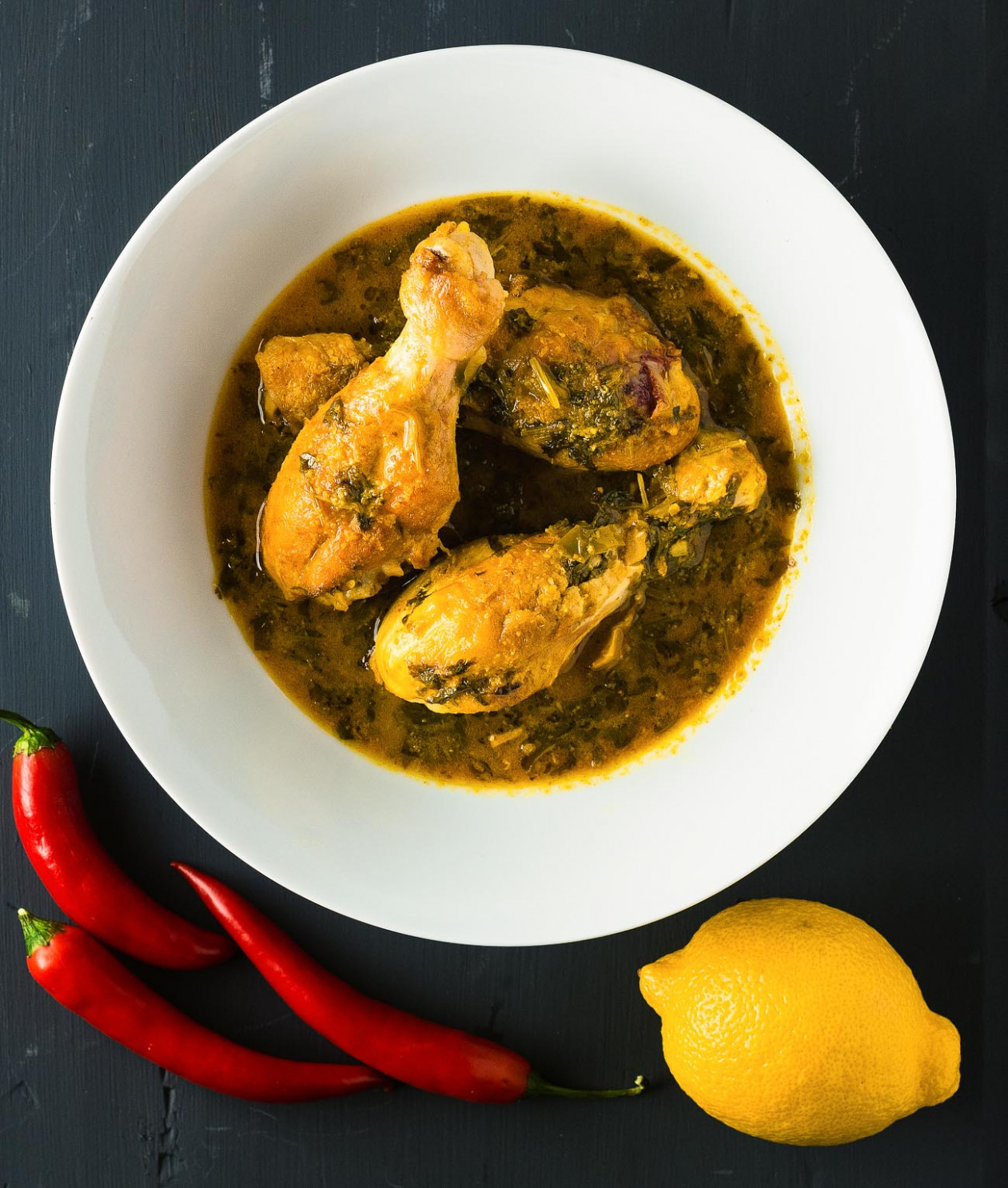 lemon coriander chicken curry - indian curry recipes chicken
