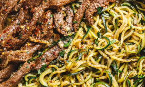 Lemon Garlic Butter Steak With Zucchini Noodles – Ready In ..