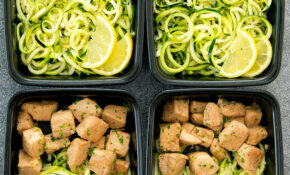 Lemon Garlic Chicken With Zucchini Noodles Meal Prep – Chicken Zucchini Recipes Low Carb