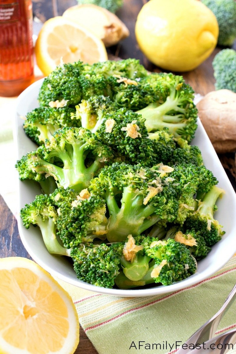 Lemon Ginger Broccoli - healthy recipes broccoli