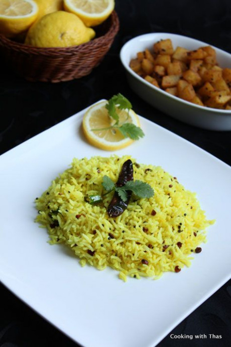 Lemon Rice - An south indian vegetarian delicacy, famous ..