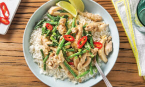 Lemongrass & Coconut Chicken With Greens & Lime Infused Rice – Thai Recipes Chicken