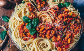 Lentil Bolognese With Spaghetti (vegan, Easy – Food Recipes Vegetarian Easy